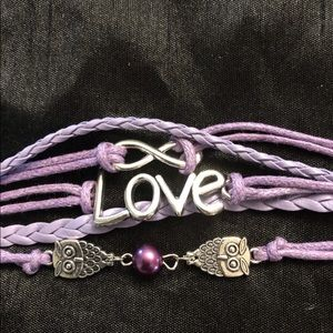 Jewelry - Lavender Leather Love Friendship Bracelet